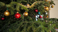 Huge christmas tree interior  Stock Footage