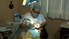 Girl Visits the Dentist in the Dominican Republic Stock Footage