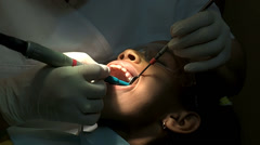 Dental Work Close Up Stock Footage