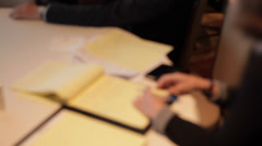Taking notes at a Seminar (2 of 2) - stock footage