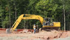 CONSTRUCTION EXCAVATOR Stock Footage