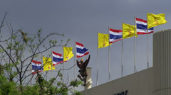 Flags in Thailand Stock Footage