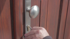 Opening and closing the door - stock footage