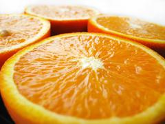 Stock Photo of orange cut by fractions