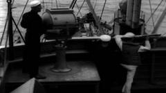 1919 - Sailors at Sea 21 Stock Footage