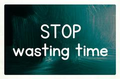 Stop wasting time Stock Illustration