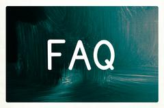 Stock Illustration of faq concept