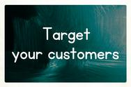 Stock Illustration of target your customers concept