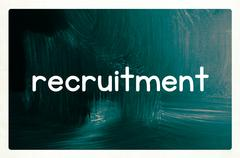Recruitment concept Stock Illustration