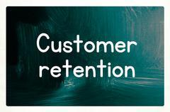 Customer retention concept Stock Illustration