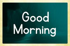 Stock Illustration of good morning