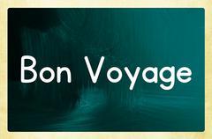 bon voyage - stock illustration