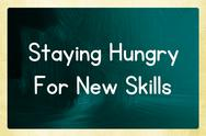 Stock Illustration of staying hungry for new skills