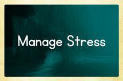Manage stress Stock Illustration