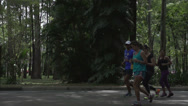 Stock Video Footage of 057 Sao Paulo, Ibirapuera park, slowmotion runners