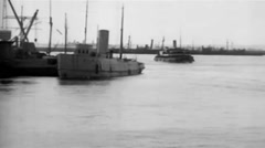 1919 - Transport New York Harbor 01 Stock Footage