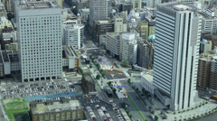Yokohama city scenics, aerial (3) Stock Footage