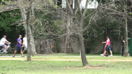 Stock Video Footage of 058 Sao Paulo, Ibirapuera park, runners, bicycles, walkers