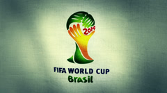 Brazil Fifa World Cup 2014 Flag Logo - stock footage