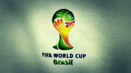 Stock Video Footage of Brazil Fifa World Cup 2014 Flag Logo