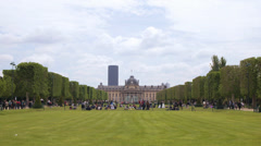 Ecole Militaire Stock Footage