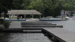 PUBLIC DOCK AT PORT CARLING, ONTARIO Stock Footage
