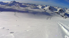 Untouched powder snow - stock footage