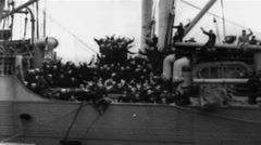 1919 - Soldiers On board George Washington 04 Stock Footage