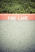 Fire lane Stock Photos