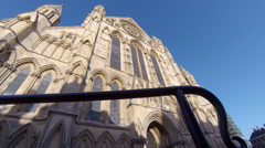 South entrance to the Minster in the city of York in Yorkshire Stock Footage