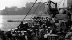1919 - Soldiers on board George Washington 05 Stock Footage