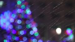 Christmas Wet Snow 1 Stock Footage