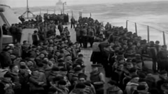 1919 - SoldiersOnTransportHighSea01.mp4 Stock Footage