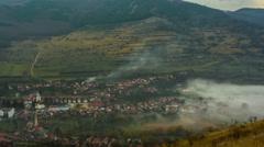 Remetea Village fog HD Stock Footage