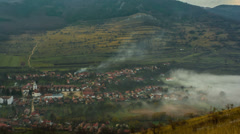 Remetea village fog 4K Stock Footage