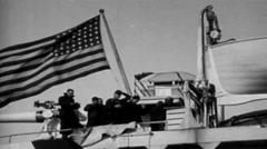 1919 - US Transporter - Deck Gun And Soldiers 01 Stock Footage