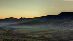 Transylvania Apuseni Valley day to night 4K Stock Footage
