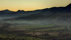 Transylvania Apuseni castle day to night 4K Stock Footage