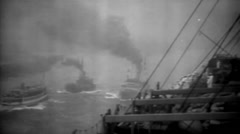 1919 - US convoy 01 Stock Footage