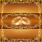 Wedding greeting or invitation card Stock Illustration