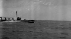 1919 - US destroyer at Sea 01 Stock Footage