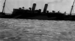 1919 - US destroyer Shadow 01 Stock Footage