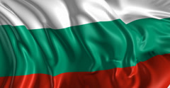 Flag of Bulgaria Stock Footage
