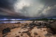 Stock Photo of thunder storm in the tropical sea