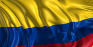 Stock Video Footage of Flag of Colombia