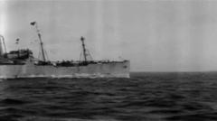 1919 - US transporter George Washington at Sea 03 Stock Footage