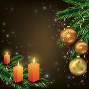 Bright celebratory christmas card Stock Illustration