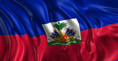 Flag of Haiti - stock footage
