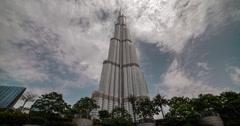 4K time lapse of the world's tallest building, the Burj Khalifa in Dubai - stock footage