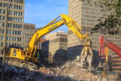 Excavator with pincer Stock Photos